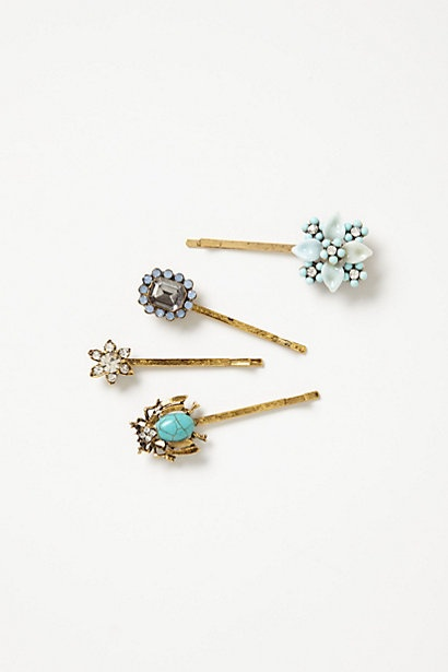 Forget-Me-Not Bobbies #anthropologie