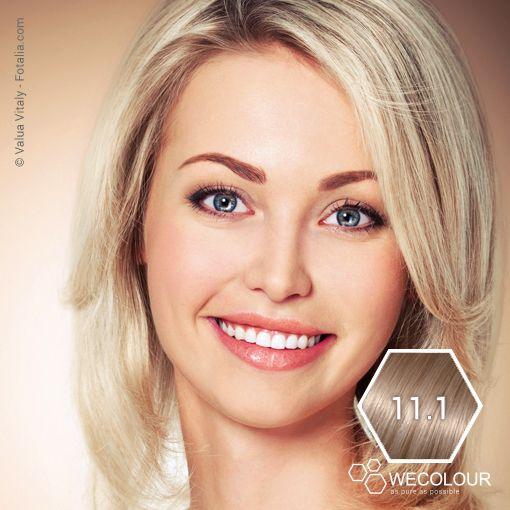 11.1 - zeer licht asblond. Prachtig! www.wecolour.com #11.1 #haarverfzonderammonia