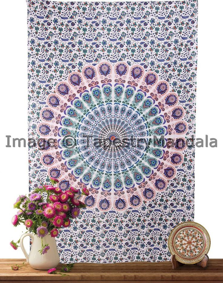 Indian Tapestry Wall Hanging Twin Hippie Dorm Tapestries Mandala Throw ICSTT9014 #HandmadeCraftaura #BedspreadTapestry