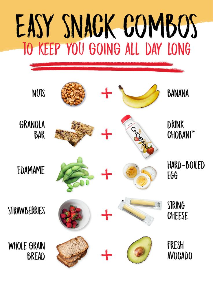 Easy snacking, solved! Try these protein-packed combos like Drink Chobani Strawberry Banana yogurt beverage and a granola bar to keep you going throughout the day.