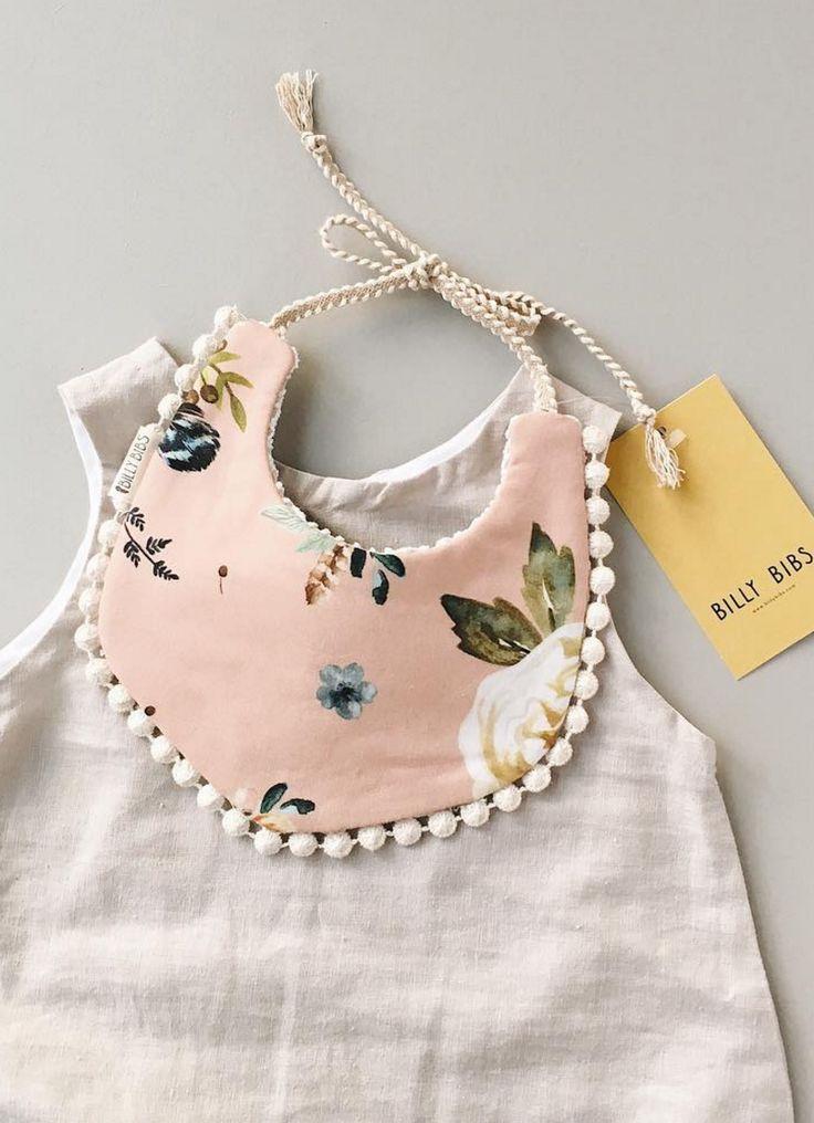 Handmade Floral Baby Bib | BillyBibs on Etsy