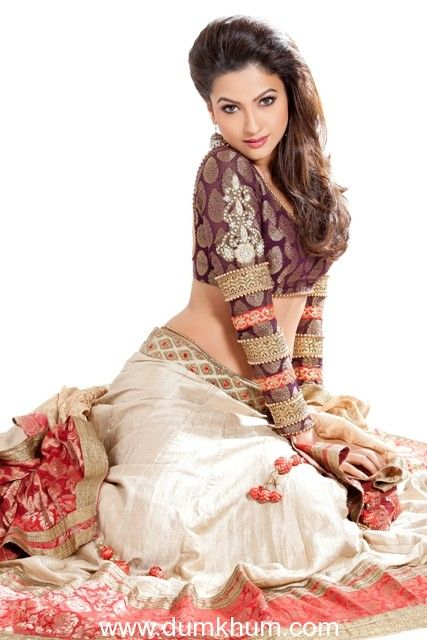 Gauhar Khan in Bridal wear.-