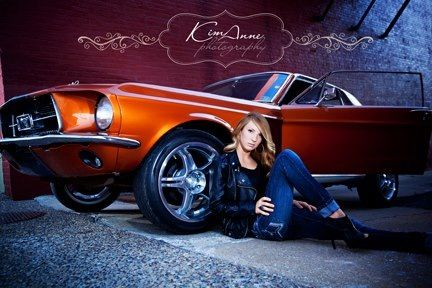 Senior pictures/senior photography with a car
