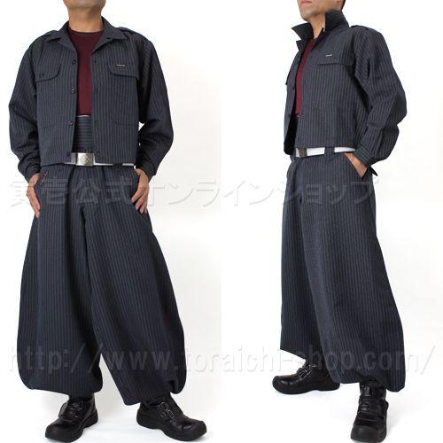 Toraichi 4309-146 Short open shirt 4309-435 Cho-cho long do-tsuki pants