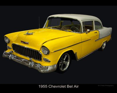 1955 chevy bel air yellow and white chevy s amp vw s pinterest
