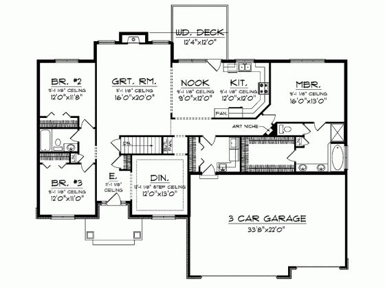 Ranch 2300 sq ft house plans pinterest house plans for 2300 square foot house plans