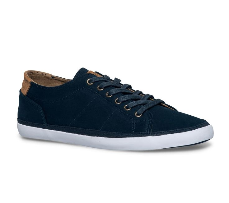 Tennis toile bleue homme - Baskets toile - Chaussures homme