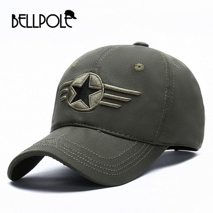 BELLPOLE High Quality Designer Brand Men Baseball Caps Army Green Cotton Snapback Caps Gorras Militares Hombre Camo Hat #Affiliate