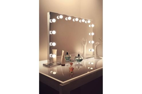 miroir de salle de bain diamond x collection miroir de maquillage hollywood finition miroir led. Black Bedroom Furniture Sets. Home Design Ideas