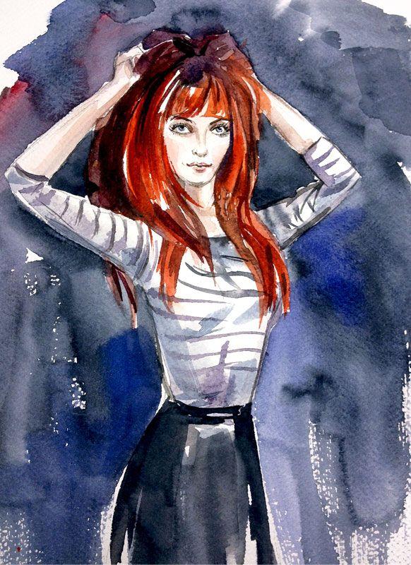 Fashion/ Watercolor by Elena Kartashova