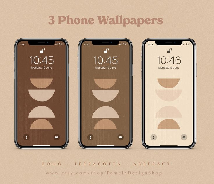 3 iPhone Wallpapers design   Abstract shapes   Terracotta ...