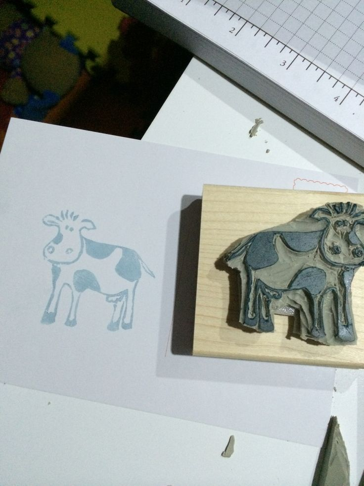 Cheech the happy cow carved by Angelica CorreaUndefined Stampin, Cows Carvings, Stamps Carvings, Angelica Correa, Correa Stampinup, Paper Crafts, Happy Cows, Undefined Stamps, Carvings Kits