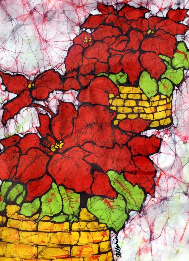 Poinsettias Batik Painting