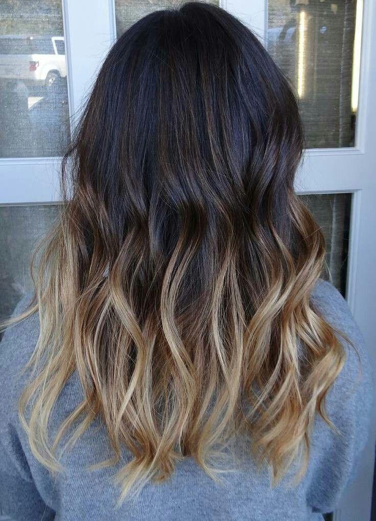 Haare ombre von oben