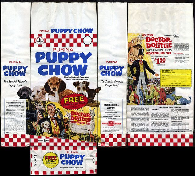 Purina Puppy Chow dog food bag - Dr Doolittle promotion - 1967   Flickr - Photo Sharing!