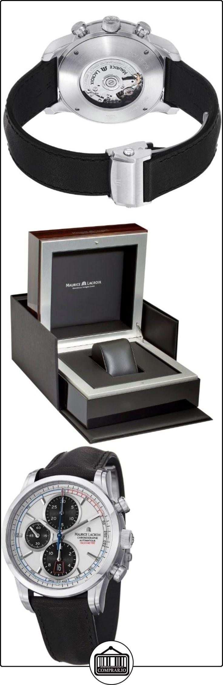 Maurice Lacroix Pontos PT6288-SS001-130 Cronógrafo Automático para hombres Carcasa Maciza  ✿ Relojes para hombre - (Lujo) ✿