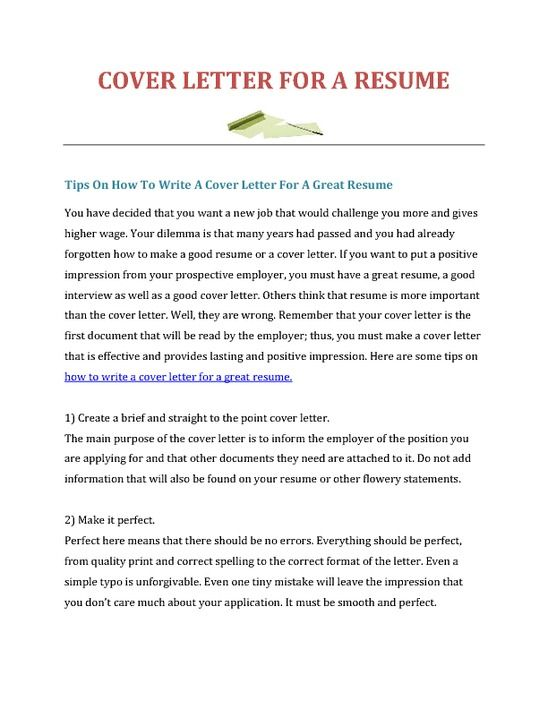 How To Make A Resume And Cover Letter How To Write Cover Letter For Resume  Cover Letter  Pinterest .