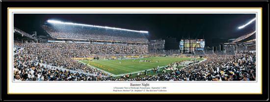 Pittsburgh Steelers Super Bowl XL Panoramic Banner Night
