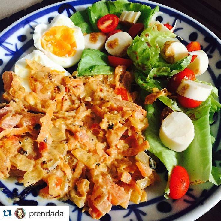 #Repost @prendada with @repostapp.  Segunda sem carne sim senhor! Cenoura refogada com tomate e creme de ricota! Salada e ovo cozido! Saudável sem carne e sem trigo!  #veggie #vegetarian #lowcarb #semcarboidratos #glutenfree #semgluten #guriaemforma by guriaemforma