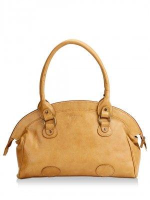 Hidesign Handbag With Patch Detailing by koovs.com