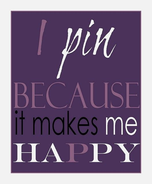 Why I Pin
