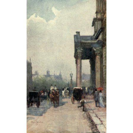 Familiar London 1904 St Georges Hanover Square Canvas Art - Rose Barton (18 x 24)