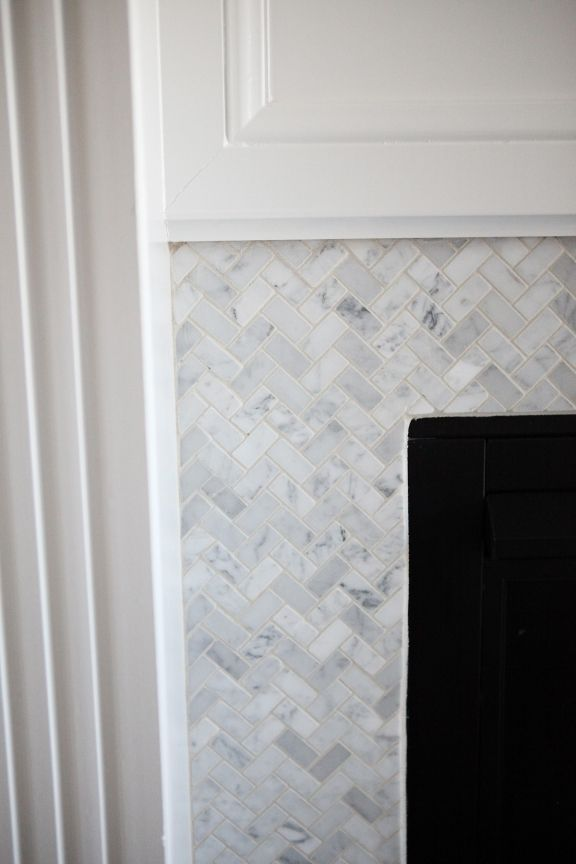 Kitchen and Living Room Tour | jenny collier blog  Fireplace surround