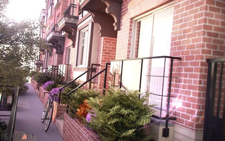 3D render for exterior visualization/ Render 3D para visualizacion arquitectonica para interiores y exteriores
