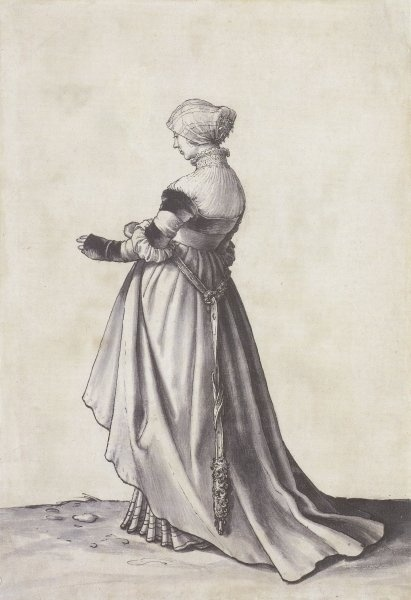 Basel_Woman_Turned_to_the_Left_Costume_Study_by_Hans_Holbein_the_Younger1520 by learningtofly_katafalk, via Flickr