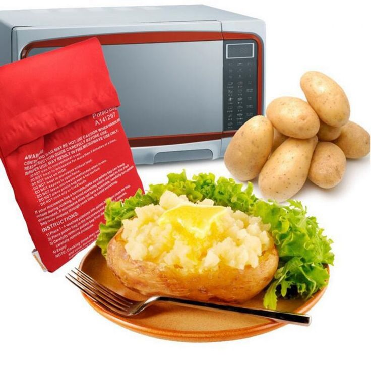 Potato Bag Red Microwavable Washable Cotton Cooker Kitchen Cooking  Tools Gadget #Unbranded