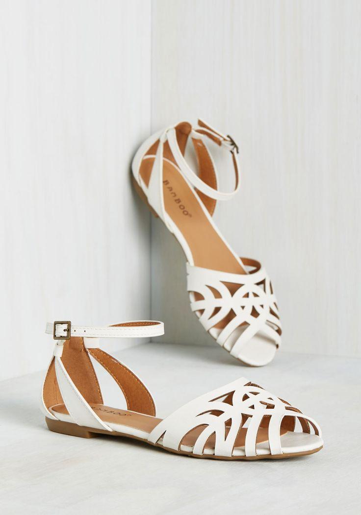Flat Peep Toe Wedding Shoes