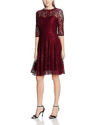 44 ( XL/44), Red (bordeaux 046), Intimuse Women's Shari Dress NEW