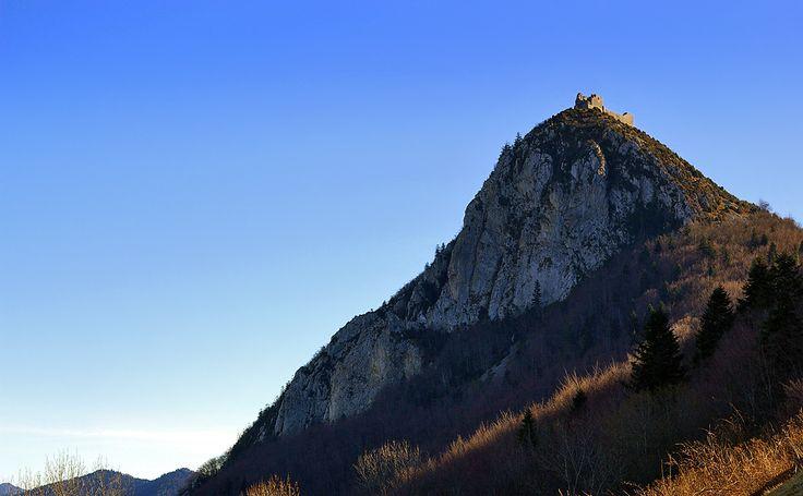 Chateau de Montségur, dans le Pays Cathare