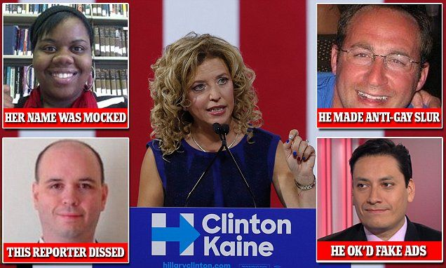 How DNC staffers under Wasserman Schultz used anti-gay slurs, mocked the name of an African-American assistant and created a sexist Craigslist job posting to humiliate Donald Trump