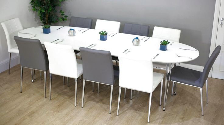 Oval Dining Table Set For 10