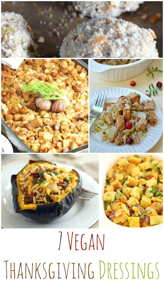 Here are 7 Vegan Thanksgiving Dressing Recipes to choose from. Which one will you make this year?