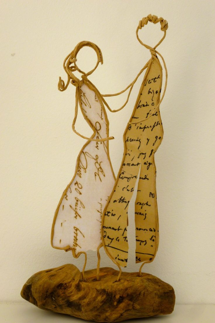 Amour naissant - figurines en ficelle et papier : Accessoires de maison par ficelleetpapier