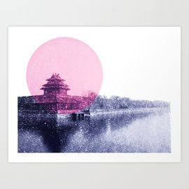 Hong Kong art print. By Jenny Madeleine available from: http://society6.com/jennymadeleine/prints