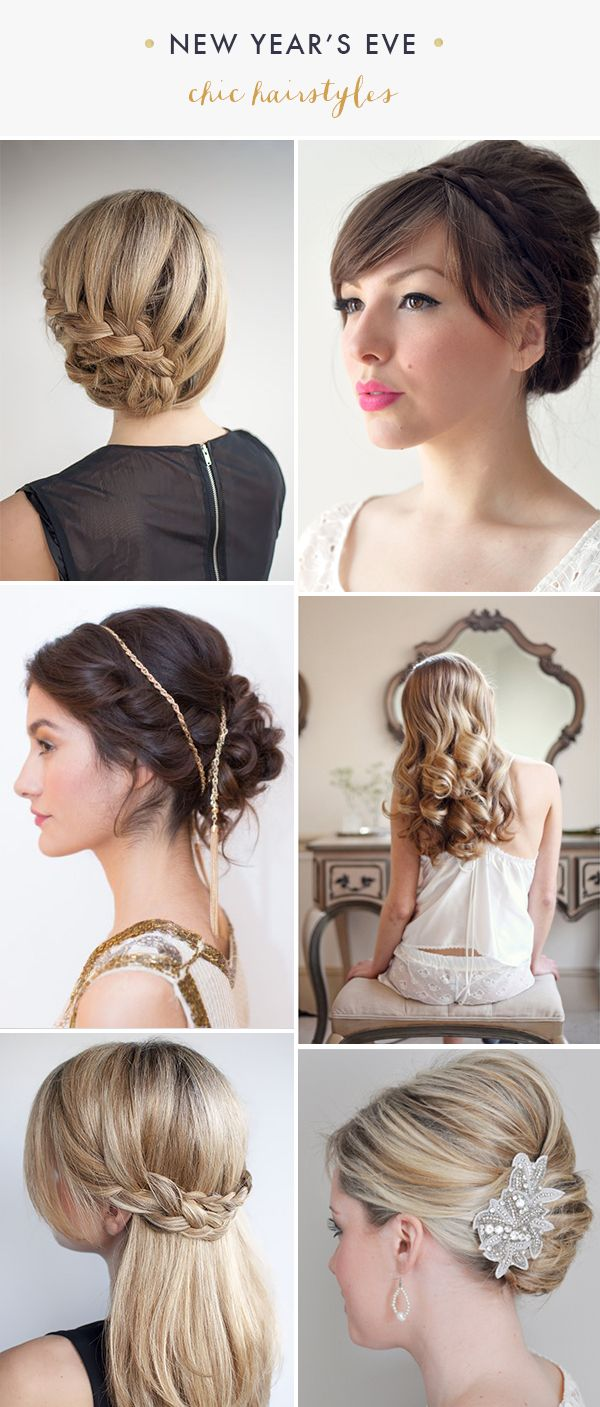 DIY New Years Eve Hairstyle - MB Desire Collection  I knoq these don't show short hair, but they are very pretty and maybe with some extensions?