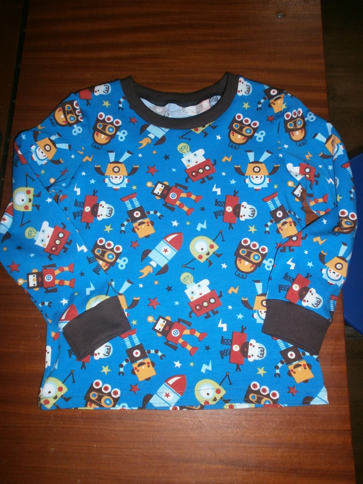Shirt for our son (lillestoff fabric, By Bora)