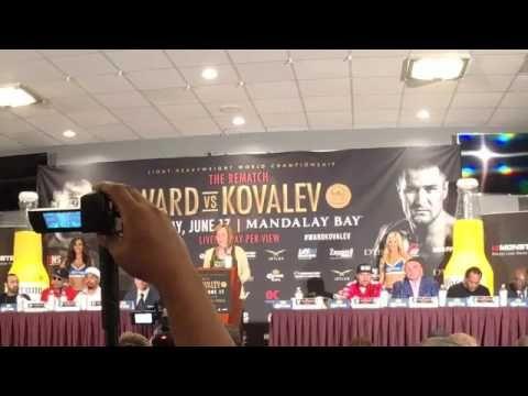 ANDRE WARD VS. SERGEY KOVALEV PRESS CONFERENCE- TEAM KOVALEV STORMS OUT!