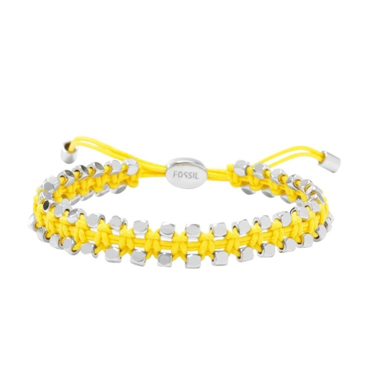 #Fossil #bracelet #yellow #silver #color #summer #beach #surfer