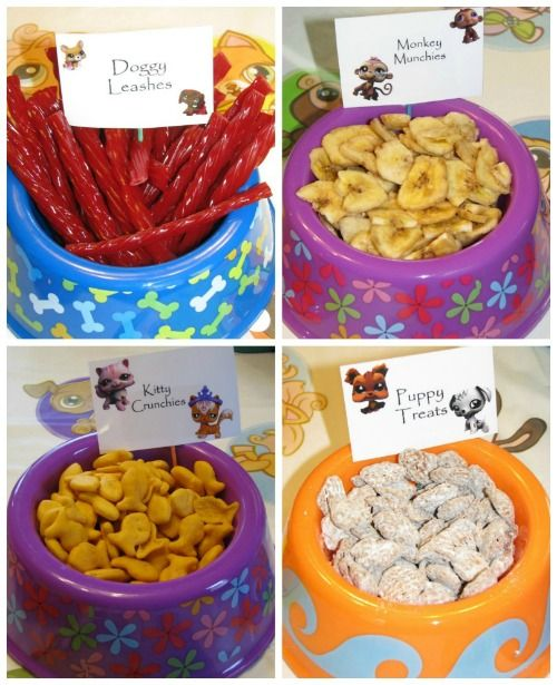 Littlest Pet Shop Party Ideas and pet food bowl party ideas on Frugal Coupon Living.