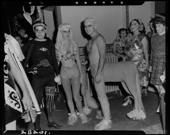Joseph Janney Steinmetz, Untitled (man and woman dressed as centaurs at a costume party), c. 1950, Harvard Art Museums/Fogg Museum.