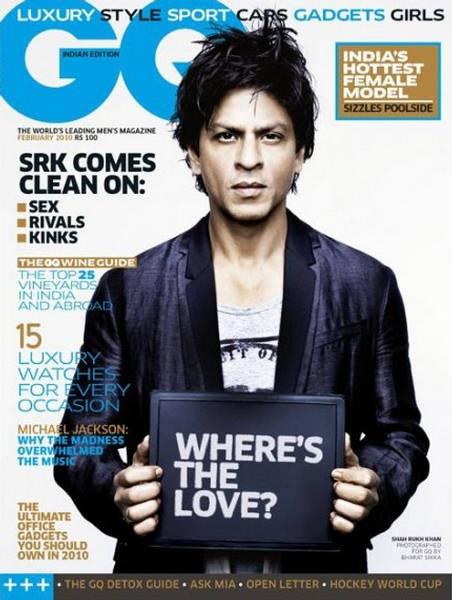 Spiky look of Shahrukh Khan