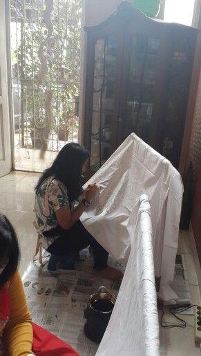 The batik short course activity @ Griya Khenest Galery perumahan Citra Gran Cibubur kota Bekasi Indonesia..