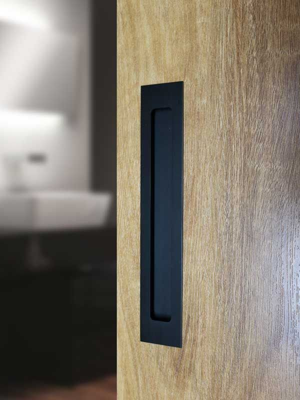 Milos Flush Pull Handles In Matte Black Finish The Lock And Handle Sliding Door Handles Wardrobe Door Handles Wardrobe Handles