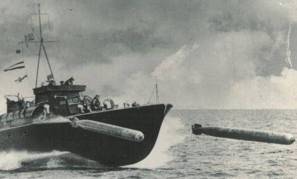 As yet unidentified Motor Torpedo Boat firing torpedos