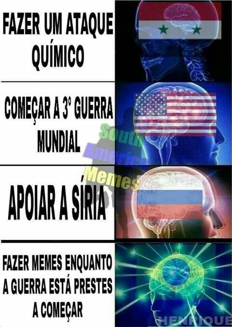 Meme evolução kkkk/ Fazer memes enquanto a guerra está prestes a começar