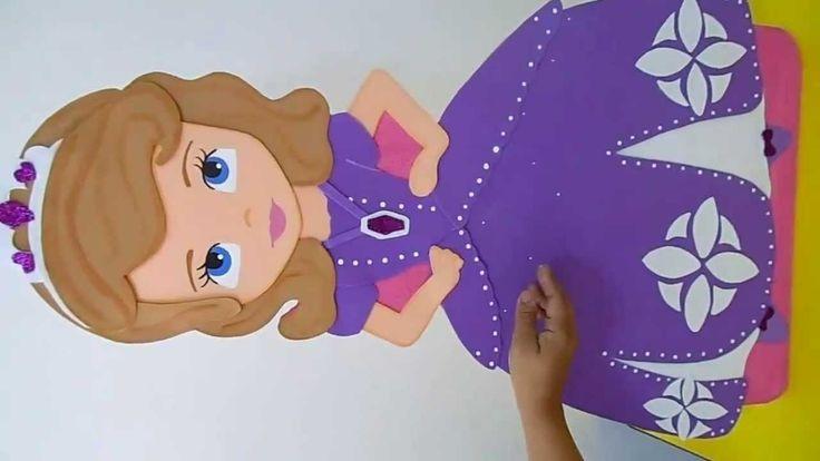 Figura en foami princesa sofia